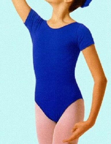 Royal Blue Short Sleeve Leotard Mondor 496 Women/'s Size Large 12-14