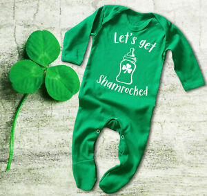 Baby & Toddler Clothing Boys' Clothing (newborn-5t) Let's Get Shamrocked Irish St Patrick's Day Green Baby Grow Bodysuit Rompersuit