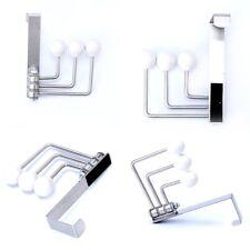 2 Sets Of Foldable Over Door Hook Rack Hanger Organizer Space Saver CGA