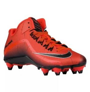 7b7d1ed28ea Nike Alpha Pro 2 D 3 4 Football Cleats Orange Black Size 10