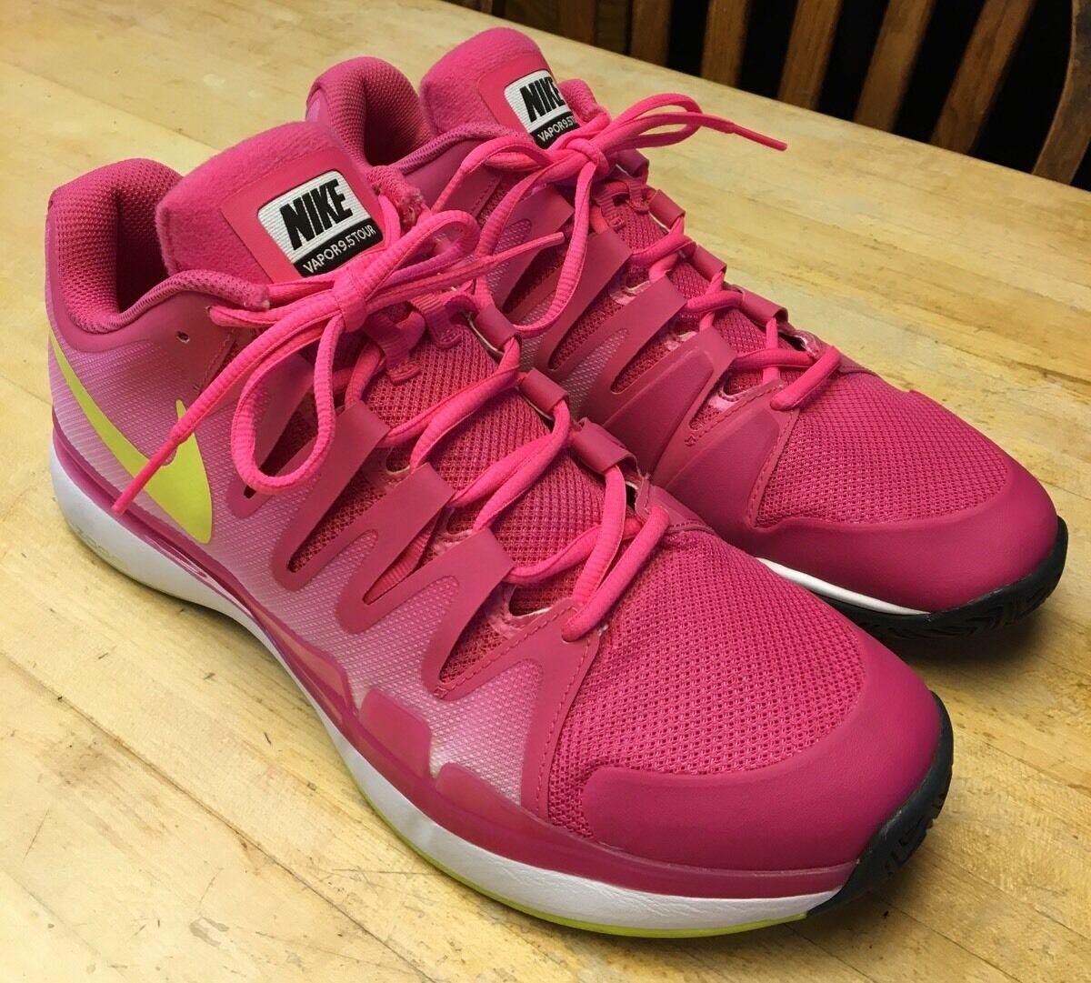 Womens Nike Zoom Vapor 9.5 Tour Tennis Shoes 631475-676 Size 11 1/2 (Worn Twice)