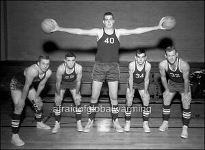 Old Photo Freak Giant Basketball Player