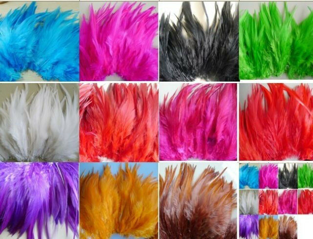 100pcs Beautiful Natural Rooster Feathers 10-15cm/4-6inch Colour Choose