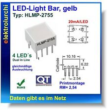 1x LED-Light Bar, gelb, Typ:HLMP-2755, Meldeleuchte Kontrollampe Kontrolllampe
