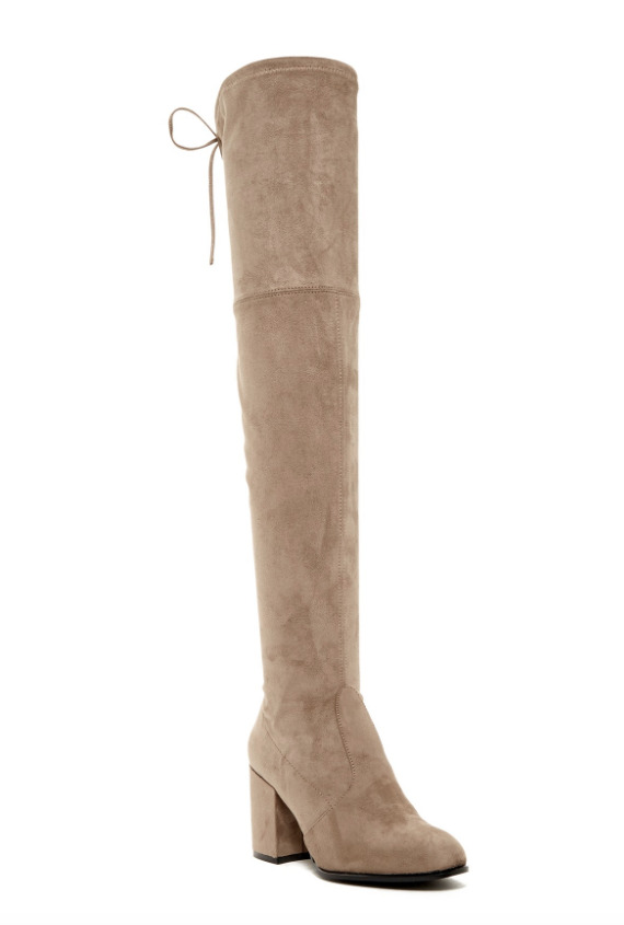 Steve Madden Women's Slayer Taupe Over The Knee Boots Sz 9M 2108*