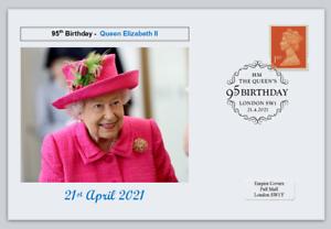 GB 2021 95th birthday queen elizabeth ii royalty women postal card #4
