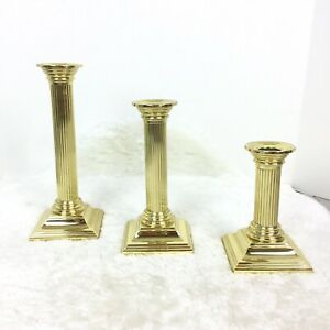 """BALDWIN BRASS SMITHSONIAN INSTITUTION CANDLESTICK CANDLE HOLDER 7.25/"""" TALL"""