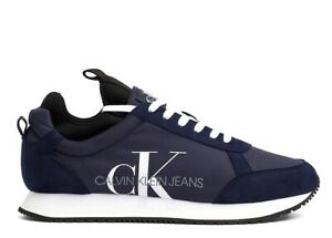 Calvin-Klein-JEMMY-LOW-TOP-LACE-UP-B4S0136-Blu-Scarpa-Sportiva-Casual