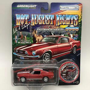 Greenlight-2008-HAN-Reno-1968-Mustang-Fastback-Five-Die-Cast-Car-Signed