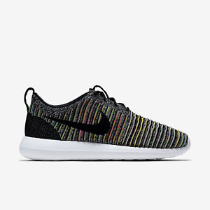 07ffa1f0df7bb NIKE ROSHE TWO FLYKNIT PREMIUM QS Trainers Gym Casual Multi Colour ...