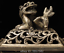 antique-the-Qing-dynasty-Pure-copper-Mosaic-gem-Lion-Incense-burner thumbnail 7