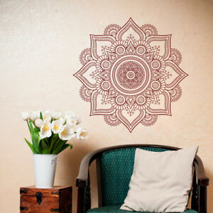 Details about Mandala Wall Sticker, Yoga Removable Wall Decal, Yoga Wall Art