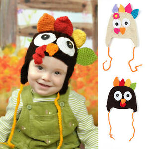 a16ef407edc Baby    Toddlers Thanksgiving Turkey Beanie Hat Cap Cute Cartoon Animal  Winter Knit Beanie with