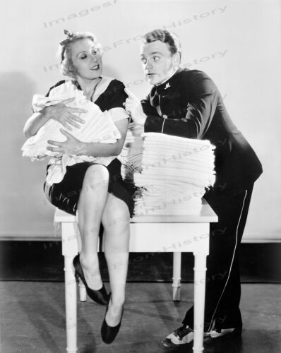 8x10 Print James Cagney Joan Blondell Blonde Crazy 1932 #1a806