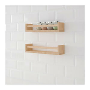 2x IKEA BEKVAM WOODEN SPICE JAR RACK Stand Kitchen Storage Shelf ...
