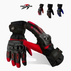 Gants-de-Moto-Courses-en-Cuir-et-Textile-Impermeable-Thermique-Ecran-Tactile