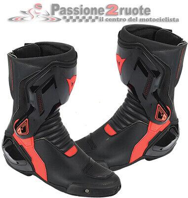 Stivali moto corsa pista Dainese Torque D1 Out nero rosso 43 black racing boots   eBay