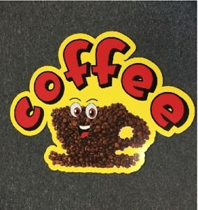 TWO-SAME-SIZE-COFFEE-CUP-CARTOON-BEANS-ASSORTED-CORRUGATED-PLASTIC-SIGNS