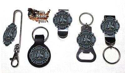 Fire Department Maltese Cross Bottle Opener Key Fob Key Holder or Money Clip