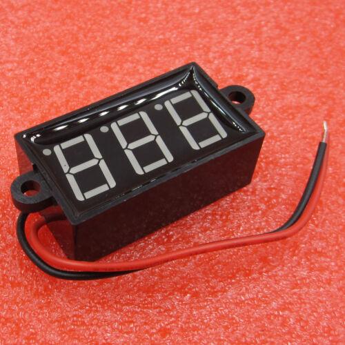 DC 3.5-30V 0.56/'/' Digital Voltmeter Voltage Test Module Waterproof 3 Bit Blue