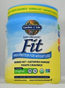 RAW Organic Fit Garden of Life Original 15.1 oz Protein For Weight Loss