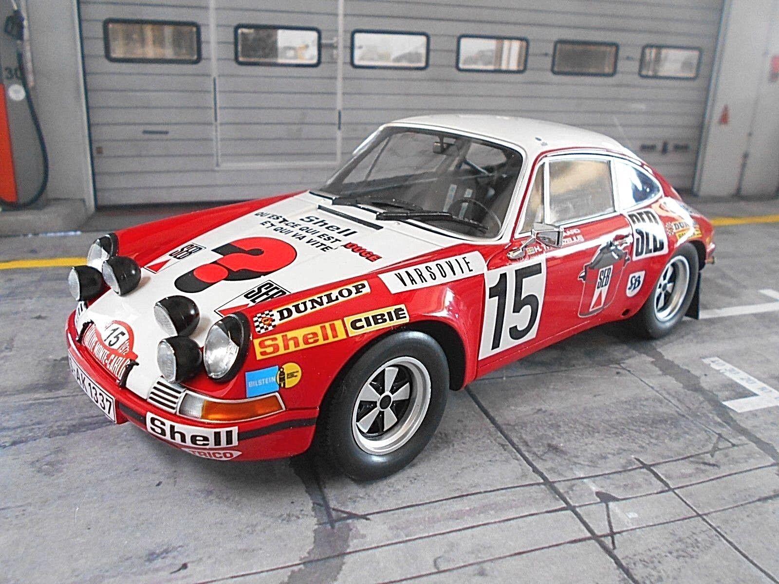 Porsche 911 S RALLYE MONTE CARLO 1972  15 Waldegaard SEB SH SP MINICHAMPS 1 18