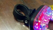 BICYCLE SAFETY FLASHER and stay on 5-LED LIGHT RED & blue multi function