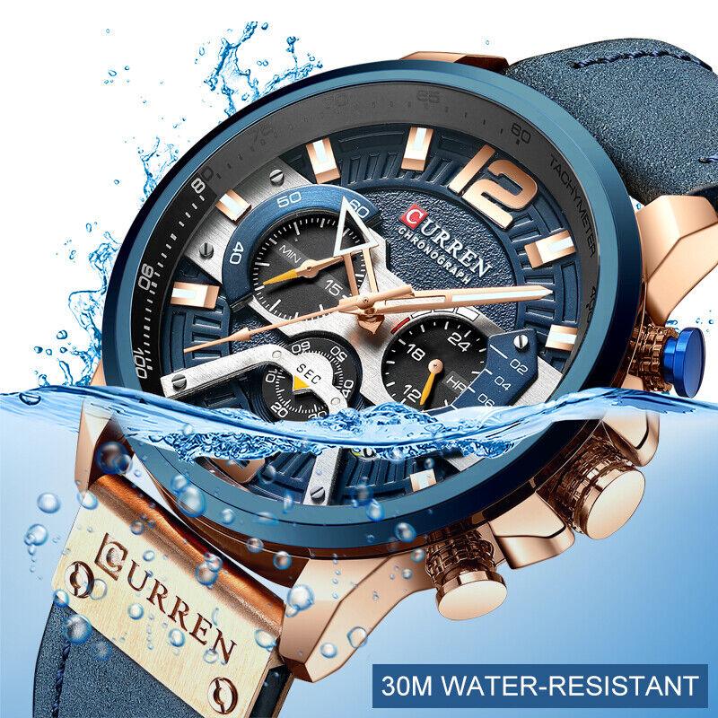 CURREN Men's Luxury Wrist Watch Sport Automatic Watch Fashio