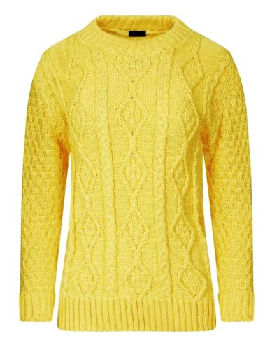 Femmes Chunky Câble Tricot Pull Haut Femme à manches longues Casual Pullover Sweater