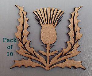 10-Pack-Thistle-Blanks-MDF-Plaques-decoration-frame-Scottish-Choose-Size-04