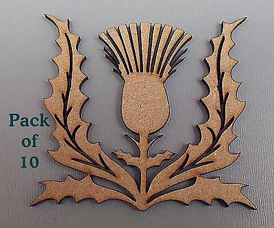 Scottish Choose Size #03 frame decoration 10 Pack Thistle Blanks MDF Plaques
