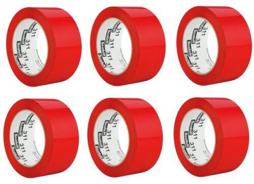 3M Scotch Box Sealing Tape 48 mm x 100 m red tape lot of 6