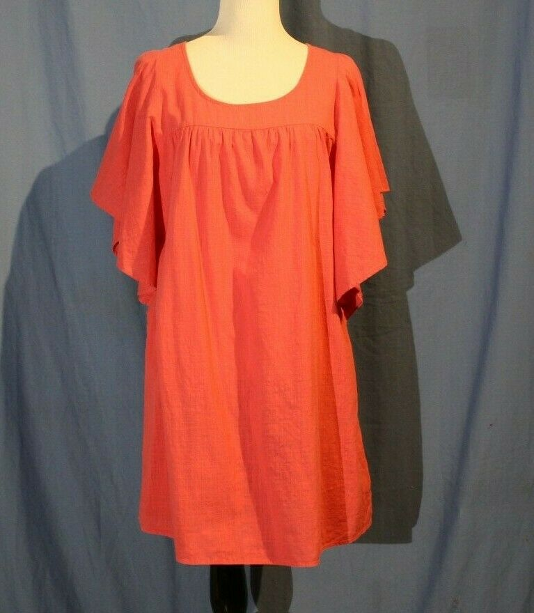 Old Navy, Large Hot Pink Butterfly Sleeve Dress w… - image 1