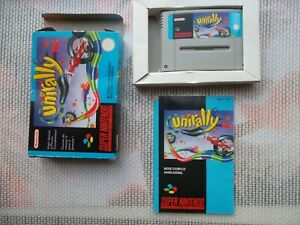 Jeu-Super-Nintendo-Snes-Game-Unirally-Complet-CIB-PAL-FAH-retrogaming