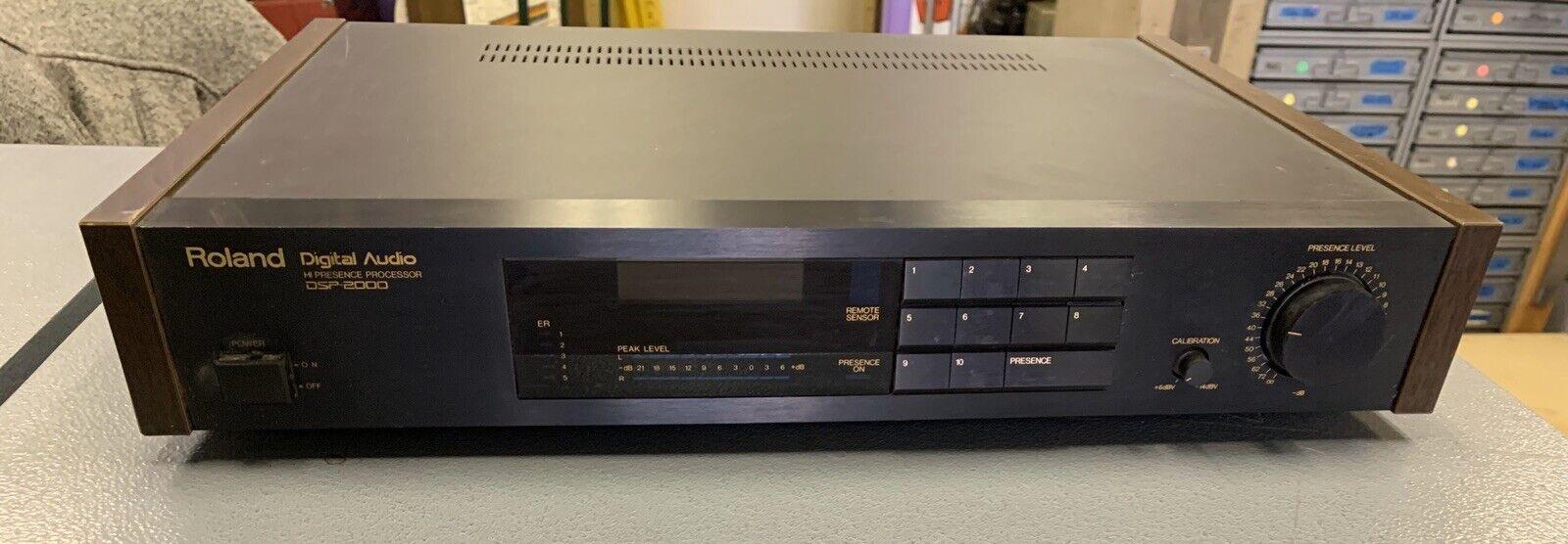 Vintage Roland DSP-2000 Hi Presence Audio Processor with original box