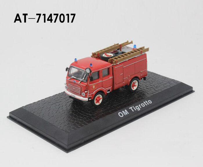 Atlas 1 72 Scale Classic OM Tigredto Fire Engine Vehicle Diecast Model 1 72