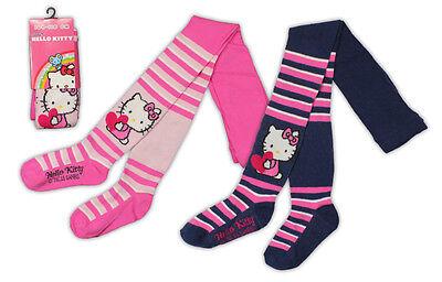 Mädchen Strumpfhose Hello Kitty Socken gestreift Strümpfe Baumwolle Gr 92-134