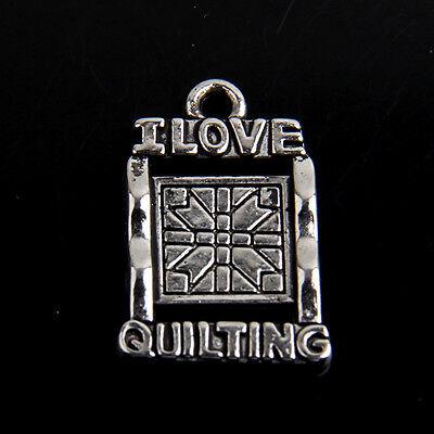 25Pcs Zinc Alloy Antique Silver Bronze Hearts Charms Pendants 1A144