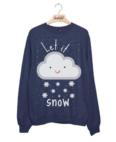 Lot 1 let it snow nouveauté noël noël festif femme sweat
