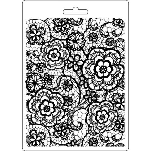 Nouveau Stamperia Doux Moule A5 Fleuri Texturé