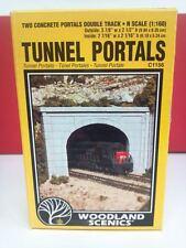 Woodland Scenics Tunnel Portals (2) Concrete Double Track C1156 #1156 N Scale