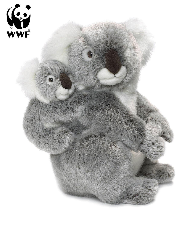 WWF Plüschtier Koalamutter Koalamutter Koalamutter mit Baby (28cm) Lebensecht Koalabär Australien Bär 593ae3