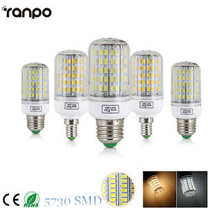 E27 E14 LED Maíz Bombilla 45W 30W 25W 20W 15W 12W 7W Luz 5730 SMD Blanco 220V