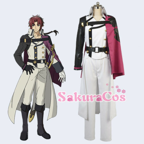 New Seraph of the end Crowley Eusford White Handsome Uniform CosPlay Costume