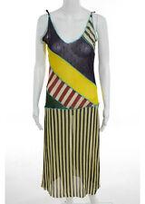 JEAN PAUL GAULITER Multi Color Graphic Sheer Midi Tunic Dress Sz L