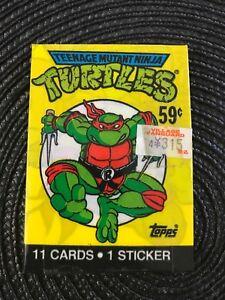 Teenage-Mutant-Ninja-Turtles-Topps-Cards-1989-Wax-Pack-11-Cards-1-Sticker