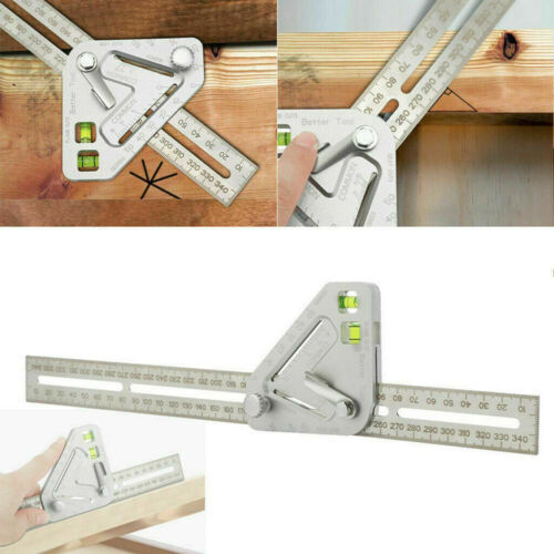 Woodworking Triangle Ruler Angle Ruler Revolutionary Measuring Tool Durable X8Y6