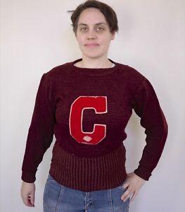 U Letterman années Cornell 1920 des Letterman en Crimson S Vtg College Colgate laine Pull CRZvPwx