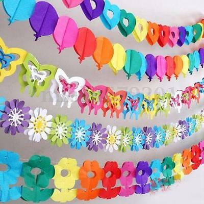 Hanging Paper Garland Chain Home Wedding Birthday Party Ceiling Banner DIY Decor