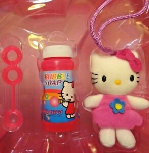 HELLO KITTY ACTIVITY SET - JUMP ROPE, BUBBLES & PLUSH DOLL in CARRY CASE - NEW!